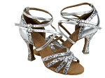 C5008Mirage Silver Sparkle & Silver Leather