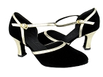 C9621 Black Nubuck & Gold Trim