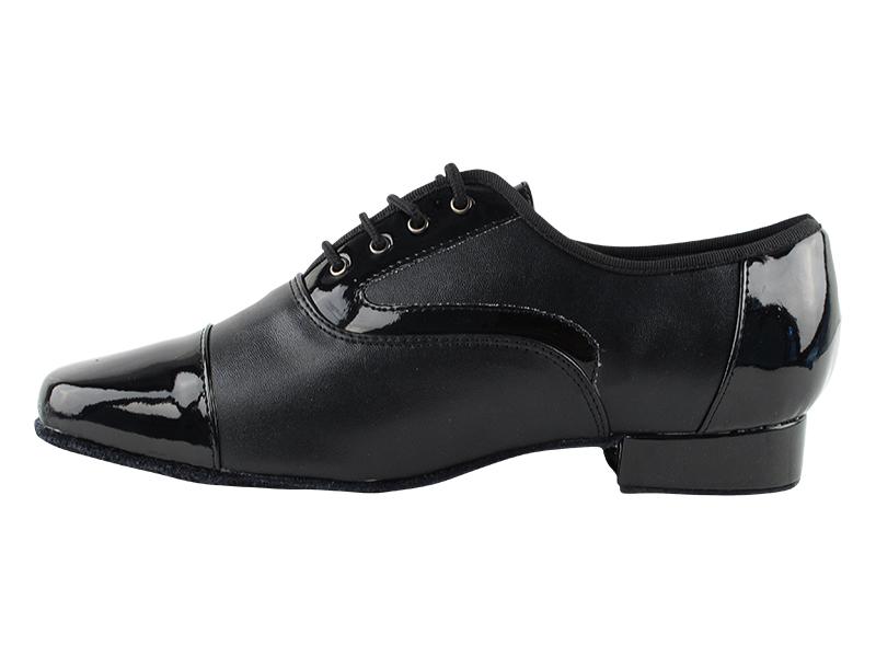 916102 black patent black leather