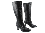 PP205Boot Black Leather_BF16 Black Sparkle Heel