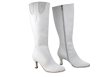PP205 Boots White Leather