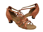 S9279 Tan Satin & Cuban Heel