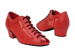 1643 266 Red Leather_198 Glitter Red Mesh