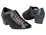 1643 322 Black Iridescent Diamond Velvet_Black Mesh