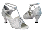 1672 6 Silver Sparklenet_X-Strap Ankle