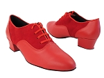 1688 266 Red Leather_F_B_228 Red Suede