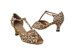 2707 152 Leopard Satin_Whole Shoes