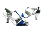 6006 55 Silver Leather_234 Blue Stardust