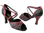 6023 102 Black Flower & 131 Red Patent Trim