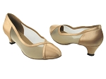 6815 80 Light Gold Satin & Flesh Mesh