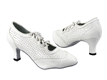 6823 White Perforated Leather