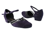 8881 281 Purple Suede_58 Black Patent PU Trim