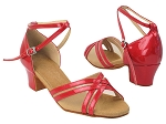 C5017 264 Red Patent_Flesh Mesh
