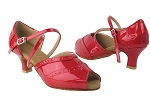 C6035 264 Red Patent & 264 Red Patent Trim