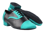 916102 230 Light Blue Satin_Black Leather