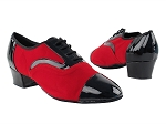 916102 58 Black Patent_F_B_1228 Red Velvet_M_Latin Heel