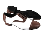 C916102 BB25 Dark Tan Leather & BB12 White Leather & Black Sole