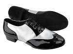 CM100101 BB2 Black Patent_BB3 Silver Leather