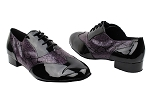M100101 Black Patent_F_B_252 Purple Snake_M