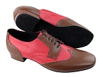 PP301 Dark Tan Leather (L) & Red Leather