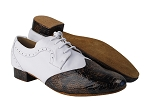 S250902 244 Dark Brown Snake Patent_F_H_Genuine White Leather_B