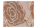 315 Brown Flower Mesh