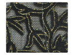 142 Gold Leaf Velvet Black Mesh -Stiletto
