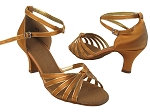 SERA7043 Tan Satin_Gold Trim