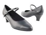 1682 Black Leather & Cuban Heel