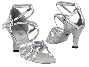 5008Mirage Silver Sparkle & Silver Leather
