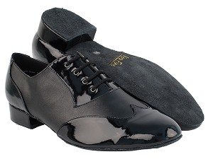 M100101 Black Patent & Black Leather