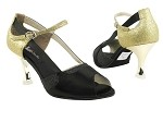 CD3006 Black Satin & Gold