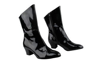 PP205A Ankle Boot Black Patent