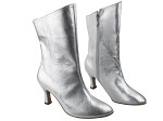 PP205A Ankle Boot Silver Leather
