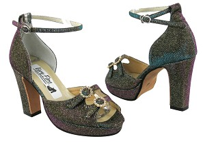 1620Platform Copper Illusion Glitter Satin