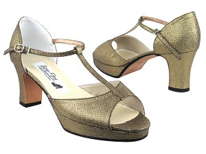 5004Platform Black_Gold Glitter Satin