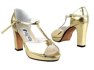 5004Platform Gold Leather