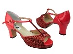 5004Platform Red Sparkle_Red Patent_Stone