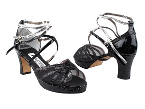 5008MPlatform Black Sparkle_F_H_T_Black Patent_B_BS_Silver Leather_AS
