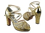 5008MPlatform Gold Sparkle_Gold Leather_White Mesh