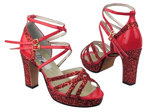 5008MPlatform Red Sparkle_Red Patent (No Mesh)