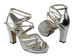 5008MPlatform Silver Leather_White Mesh