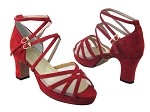 5008Platform Red Suede & Flesh Mesh