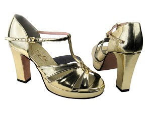6006Platform Gold Leather