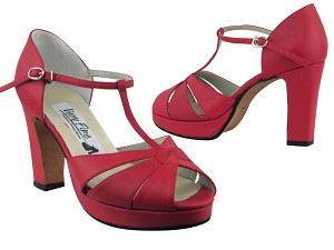 6006Platform Red Leather