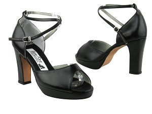 6012Platform Black Leather