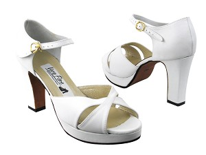 6029Platform White Leather