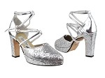 9691DPlatform Silver Sparkle_Silver Leather_Double straps