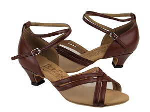 S9204 Dark Tan Leather & Cuban Heel
