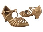 S9216 Copper Nude Leather & Cuban Heel